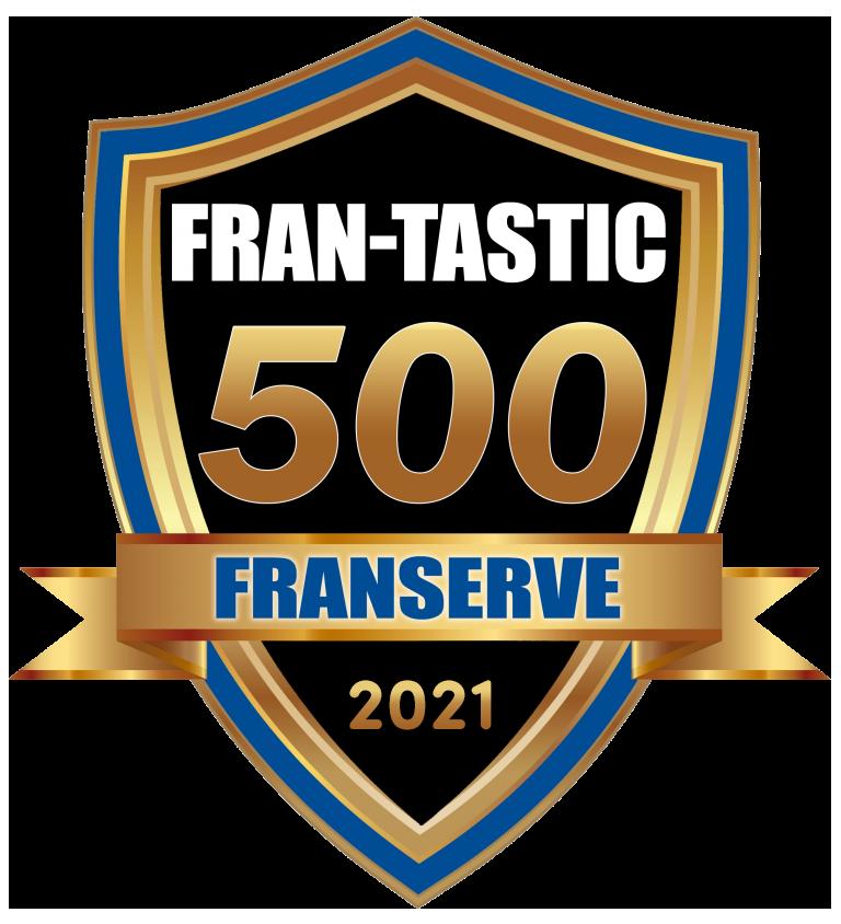 Floor Coverings International custom flooring franchise FranServe FRAN-TASTIC 500 badge 2021
